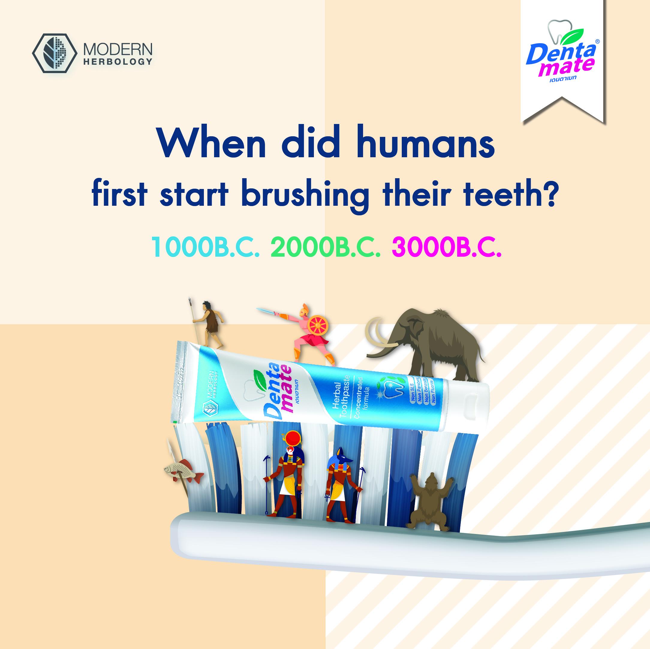 มนุษย์เริ่มเเปรงฟันมากี่ปี
